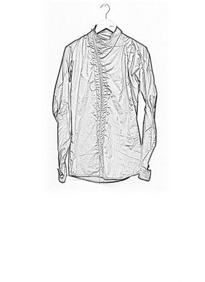 Leon Emanuel Blanck men distortion zip dress shirt DIS DS 01 cotton black elastan hide m 1