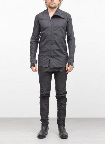 Leon Emanuel Blanck men distortion zip dress shirt DIS DS 01 cotton black elastan hide m 2