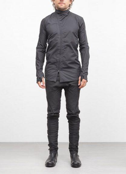 Leon Emanuel Blanck men distortion zip dress shirt DIS DS 01 cotton black elastan hide m 3