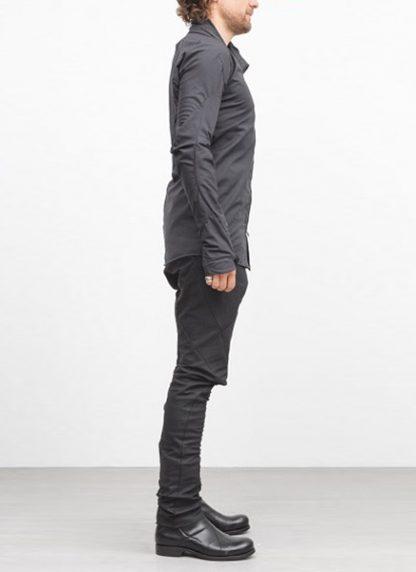 Leon Emanuel Blanck men distortion zip dress shirt DIS DS 01 cotton black elastan hide m 4