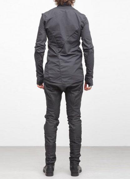 Leon Emanuel Blanck men distortion zip dress shirt DIS DS 01 cotton black elastan hide m 5
