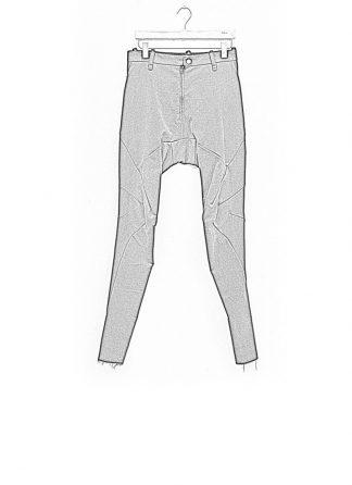 Leon Emanuel Blanck men forced fitted pants FP FLP 01 FLUCTUATING TWILL CO EL black hide m 1
