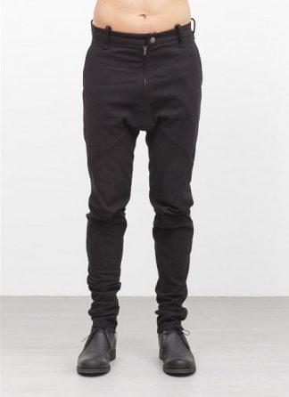 Leon Emanuel Blanck men forced fitted pants FP FLP 01 FLUCTUATING TWILL CO EL black hide m 2
