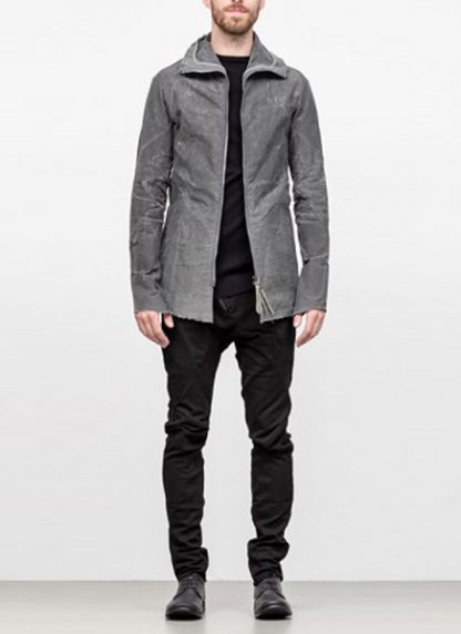 Leon Emanuel Blanck men forced straight jacket grey cotton linen waxed hide m 2