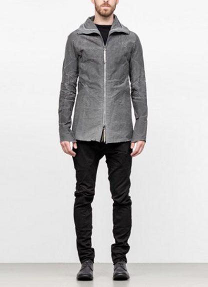 Leon Emanuel Blanck men forced straight jacket grey cotton linen waxed hide m 3