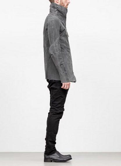 Leon Emanuel Blanck men forced straight jacket grey cotton linen waxed hide m 4
