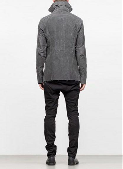Leon Emanuel Blanck men forced straight jacket grey cotton linen waxed hide m 5