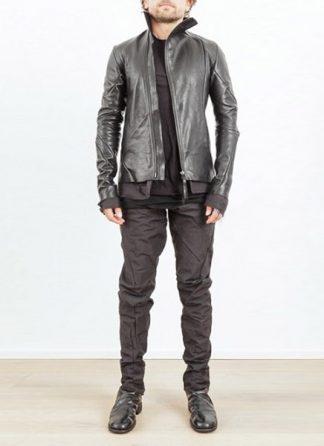 Leon Emanuel Blanck men leather jacket black horse with black lining 17ss hide m 2