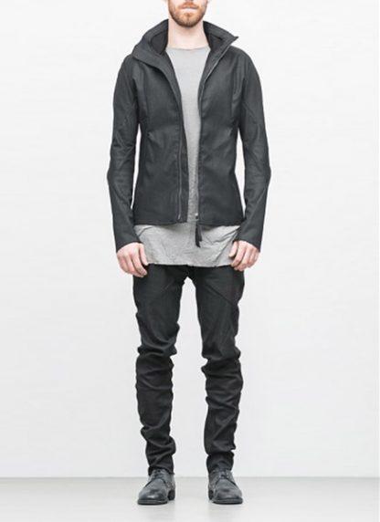 Leon Emanuel Blanck ss18 forced jacket black cotton linen hide m 2