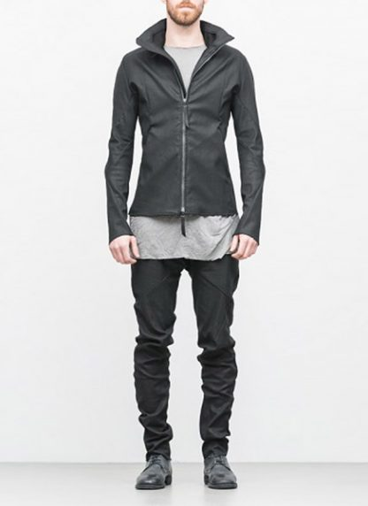 Leon Emanuel Blanck ss18 forced jacket black cotton linen hide m 3