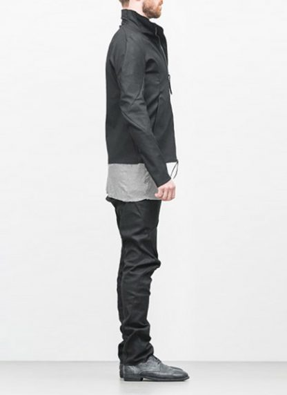 Leon Emanuel Blanck ss18 forced jacket black cotton linen hide m 4