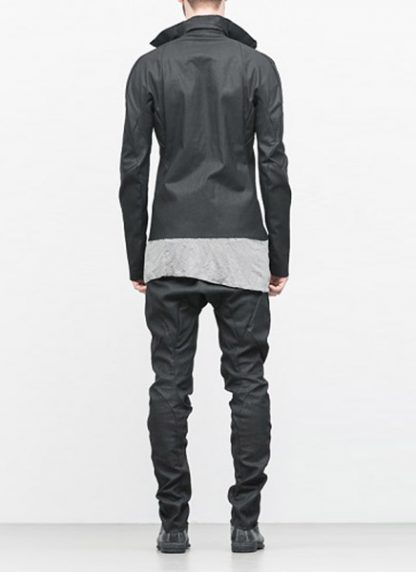 Leon Emanuel Blanck ss18 forced jacket black cotton linen hide m 5