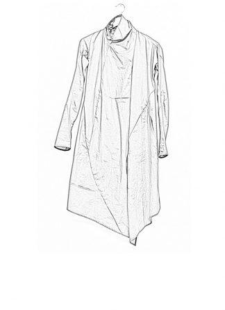 Leon Emanuel Blanck ss18 women distortion wrap cardigan coat cotton grey hide m 1