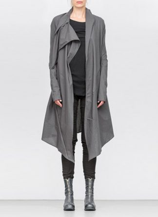 Leon Emanuel Blanck ss18 women distortion wrap cardigan coat cotton grey hide m 2