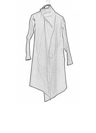 Leon Emanuel Blanck ss18 women distortion wrap cardigan coat cotton stretch black hide m 1
