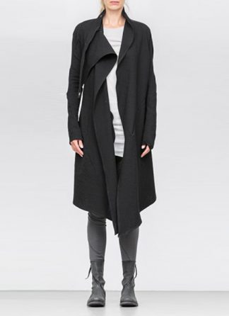 Leon Emanuel Blanck ss18 women distortion wrap cardigan coat cotton stretch black hide m 2