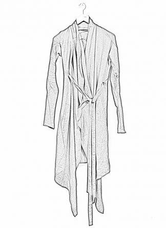 Leon Emanuel Blanck women DIS W BCDG 01 distortion belted cardigan ramie black hide m 1