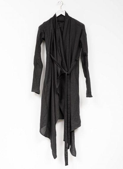 Leon Emanuel Blanck women DIS W BCDG 01 distortion belted cardigan ramie black hide m 2