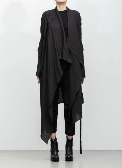 Leon Emanuel Blanck women DIS W BCDG 01 distortion belted cardigan ramie black hide m 3