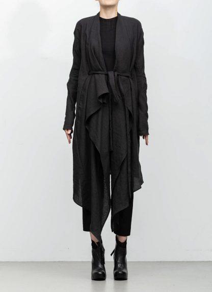 Leon Emanuel Blanck women DIS W BCDG 01 distortion belted cardigan ramie black hide m 4