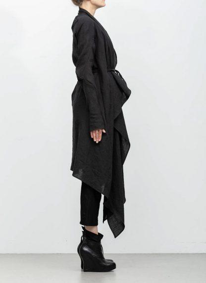 Leon Emanuel Blanck women DIS W BCDG 01 distortion belted cardigan ramie black hide m 5