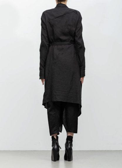 Leon Emanuel Blanck women DIS W BCDG 01 distortion belted cardigan ramie black hide m 6