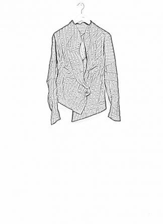 Leon Emanuel Blanck women DIS W SBJ 01 distortion short blazer jacket stripe stretch linen cotton black hide m 1