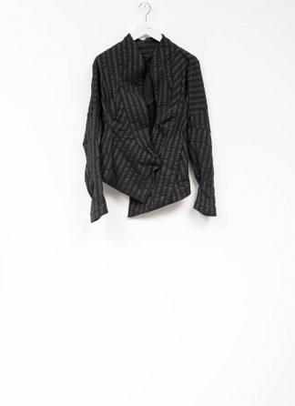 Leon Emanuel Blanck women DIS W SBJ 01 distortion short blazer jacket stripe stretch linen cotton black hide m 2