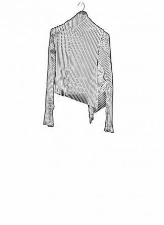 Leon Emanuel Blanck women DIS W WCDG 01 SV distortion pael stripe wrap cardigan short black cotton pa hide m 1