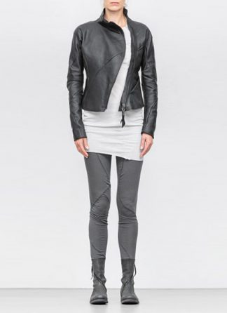 Leon Emanuel Blanck women distortion fencing jacket lined soft horse leather black SS18 hide m 2