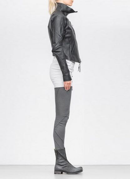 Leon Emanuel Blanck women distortion fencing jacket lined soft horse leather black SS18 hide m 4