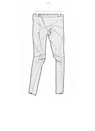 Leon Emanuel Blanck women distortion fitted pants cotton elasthan black dark grey SS18 hide m 1