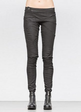 Leon Emanuel Blanck women distortion fitted pants cotton elasthan black dark grey SS18 hide m 2