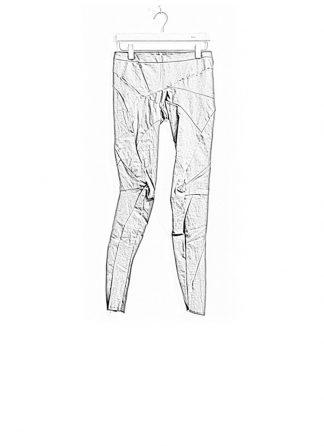 Leon Emanuel Blanck women distortion fitted pants cotton elasthan grey FW18 hide m 1