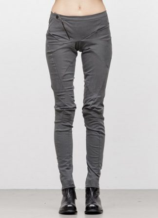 Leon Emanuel Blanck women distortion fitted pants cotton elasthan grey FW18 hide m 2