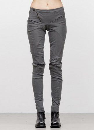 Leon Emanuel Blanck women distortion fitted pants cotton elasthan grey FW18 hide m 2