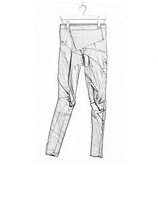 Leon Emanuel Blanck women distortion fitted pants high waist cotton elasthan grey FW18 hide m 1