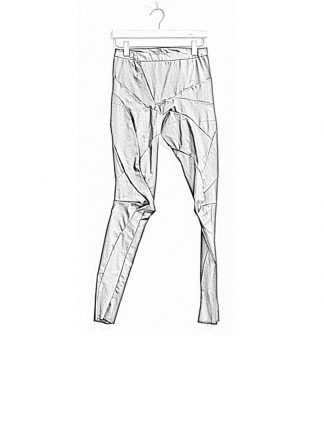 Leon Emanuel Blanck women distortion fitted pants high waist tencel cotton elasthan black FW18 hide m 1