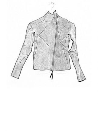 Leon Emanuel Blanck women distortion short jacket unlined wild boar leather black SS18 hide m 1