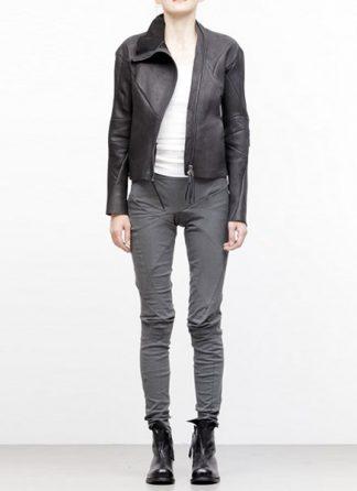 Leon Emanuel Blanck women distortion short jacket unlined wild boar leather black SS18 hide m 2