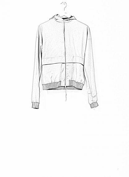 M.A maurizio amadei men deep pocket hooded bomber jacket J330H grey super soft lamb leather TEX 0.5 hide m 1