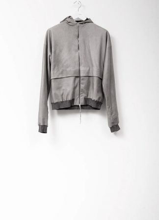 M.A maurizio amadei men deep pocket hooded bomber jacket J330H grey super soft lamb leather TEX 0.5 hide m 2