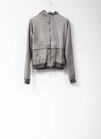 M.A maurizio amadei men deep pocket hooded bomber jacket J330H grey super soft lamb leather TEX 0.5 hide m 2
