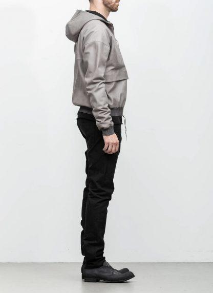 M.A maurizio amadei men deep pocket hooded bomber jacket J330H grey super soft lamb leather TEX 0.5 hide m 5