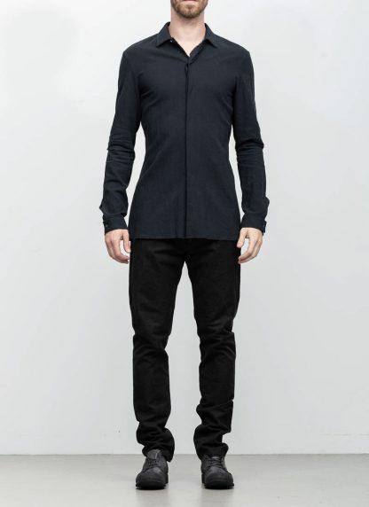 M.A maurizio amadei men fitted shirt H102 black CLR hide m 3