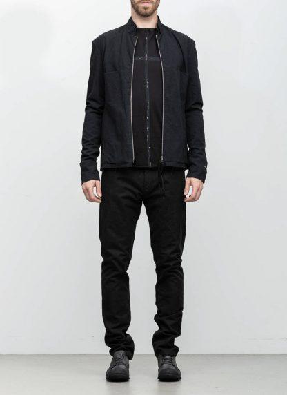 M.A maurizio amadei men relaxed biker jacket J227Z black CLR1 hide m 3