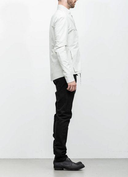 M.A maurizio amadei men relaxed biker jacket J227Z light grey CLR1 hide m 5