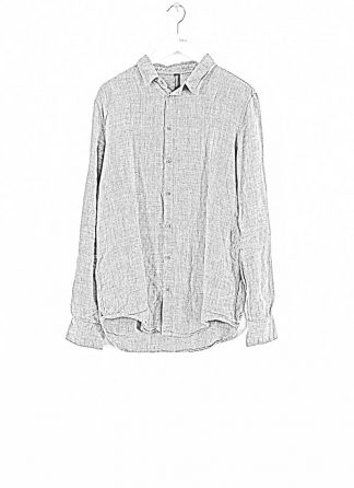 POEME BOHEMIEN men button down shirt hemd regular fit SH 01 T603 30 cotton linen wool light grey hide m 1