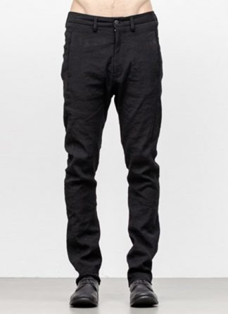 POEME BOHEMIEN men hidden pocket pants FW18 CO WV EA black hide m 2