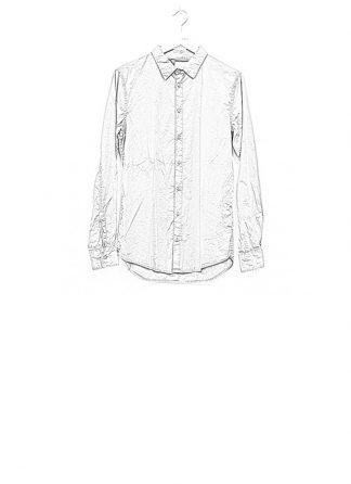 POEME BOHEMIEN men regular shirt SH 11 cotton elasthan medium grey hide m 1